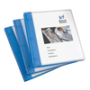 "Flexible View Binder, 1/2"" Round Rings, 100-Sheet Capacity, Blue"