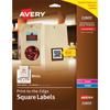 "Easy Peel® Labels, TrueBlock® Technology, Permanent Adhesive, Print to the Edge, Square, 1 1/2"""" x 1 1/2"""", 600/PK"
