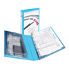"Mini Durable View Protect & Store™ Binder, 1"" Round Rings, 175-Sheet Capacity, 5 1/2"" x 8 1/2"", Aqua"