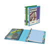 "Mini Durable View Protect & Store™ Binder, 1"" Round Rings, 175-Sheet Capacity, 5 1/2"" x 8 1/2"", Green"