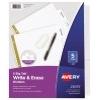Big Tab™ Write & Erase Dividers, 5-Tab Set