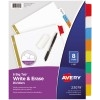 Big Tab™ Write & Erase Dividers, 8-Tab Set, Multicolor