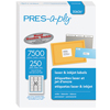 "White Labels, 1"" x 2 5/8"", Permanent-Adhesive, 30-up, 7500/BX"