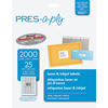 "PRES-a-ply® White Labels, 1/2"" x 1 3/4"", Permanent-Adhesive, 80-up, 2000/PK"