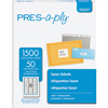 "PRES-a-ply® Clear Labels, 1"" x 2 5/8"", Permanent-Adhesive, 30-up, 1500/BX"