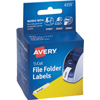 "File Folder Labels for Dymo®, Seiko® and Zebra Printers, Permanent Adhesive, 9/16"" x 3 7/16"", 160/BX"