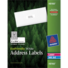 "EcoFriendly Address Labels, Permanent Adhesive, 1"" x 2-5/8"", 750/BX"