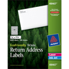 "EcoFriendly Return Address Labels, Permanent Adhesive, 1/2"" x 1 3/4"", 8,000/BX"