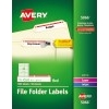 "File Folder Labels, TrueBlock® Technology, Permanent Adhesive, Red, 2/3"" x 3 7/16"", 1500/BX"