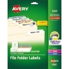 "File Folder Labels, TrueBlock® Technology, Permanent Adhesive, Assorted Colors, 2/3"" x 3 7/16"", 750/PK"