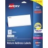 "Easy Peel® Return Address Labels, Sure Feed™ Technology, Permanent Adhesive, 1/2"" x 1 3/4"", 2000/PK"