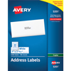 """Address Labels for Copiers, Permanent Adhesive, 1"""" x 2 13/16"""", 3,300/BX"""