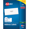 """Address Labels for Copiers, Permanent Adhesive, 1 1/2"""" x 2 13/16"""", 2,100/BX"""