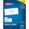 """Address Labels for Copiers, Permanent Adhesive, 1 3/8"""" x 2 13/16"""", 2,400/BX"""
