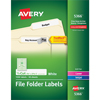 "File Folder Labels, TrueBlock® Technology, Permanent Adhesive, 2/3"" x 3 7/16"", 1500/BX"
