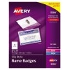 """Top-Loading Garment-Friendly Clip-Style Name Badges, 3"""" x 4"""",  40/BX"""