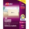 "Easy Peel® Address Labels, Permanent Adhesive, Clear, 1"" x 2 5/8"", 1500/BX"