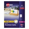 """Clean Edge® Business Cards, Uncoated, Two-Sided Printing, 2"""" x 3 1/2"""", 1000/BX"""