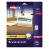 """Clean Edge® Business Cards, Ivory, True Print® Two-Sided Printing, 2"""" x 3 1/2"""", 200/PK"""