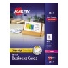 Clean Edge® Business Cards, Uncoated, Two-Sided Printing, 400/BX