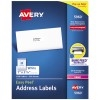 "Easy Peel® Address Labels, Sure Feed™ Technology, Permanent Adhesive, 1"" x 2 5/8"", 7500/BX"