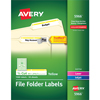 "File Folder Labels, TrueBlock® Technology, Permanent Adhesive, Yellow, 2/3"" x 3 7/16"", 1500/BX"