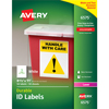 Permanent Durable ID Laser Labels, 8-1/2 x 11, White, 50/Pack
