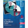 CD/DVD Label, Permanent Adhesive, Print to the Edge, 30 Disc Labels and 60 Spine Labels/PK