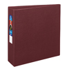 "Heavy-Duty Binder, 3"" One-Touch Rings, 670-Sheet Capacity, DuraHinge®, Maroon"