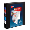 "Heavy-Duty View Binder, 1 1/2"" One-Touch Rings, 400-Sheet Capacity, DuraHinge®, Black"
