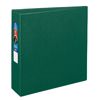"Heavy-Duty Binder, 3"" One-Touch Rings, 670-Sheet Capacity, DuraHinge®, Green"