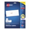 "Easy Peel® Address Labels, Inkjet, Sure Feed™ Technology, Permanent Adhesive, 1"" x 2 5/8"", 750/PK"