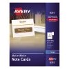 """Note Cards with Envelopes, Matte, Two-Sided Printing, 4 1/4"""" x 5 1/2"""", 60/BX"""