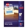 """Note Cards with Envelopes, Matte Ivory, Two-Sided Printing, 4 1/4"""" x 5 1/2"""",  60/BX"""