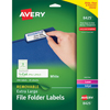 Removable Extra-Large File Folder Labels, Removable Adhesive, 1/3 Cut, 450/PK