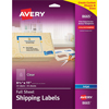"Shipping Labels, Permanent Adhesive, Clear, 8 1/2"" x 11"", 25/PK"