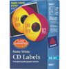 CD Labels, Matte White, 100 Face Labels and 200 Spine Labels/PK