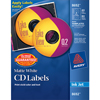 CD Labels, Print to the Edge, Permanent Adhesive, Matte, 40 Face Labels and 80 Spine Labels/PK