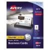 """Clean Edge® Business Cards, True Print® Matte, Two-Sided Printing, 2"""" x 3 1/2"""", 1000/BX"""