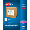 "Shipping Labels, Permanent Adhesive, 8 1/2"" x 11"", 250/BX"