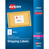 "Shipping Labels, Permanent Adhesive, 3 1/3"" x 4"", 1500/BX"