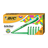Brite Liner Highlighter, Chisel Tip, Fluorescent Green Ink, DZ