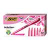 Brite Liner Highlighter, Chisel Tip, Fluorescent Pink Ink, DZ