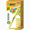 Brite Liner Highlighter, Chisel Tip, Yellow Ink, 24/PK
