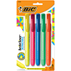 Brite Liner Retractable Highlighter, Chisel Tip, Five-Color Set