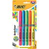 Brite Liner Grip Highlighter, Chisel Tip, Fluorescent Colors, 5/Set