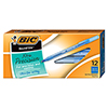 Round Stic Xtra Precision & Xtra Life Ballpoint Pen, Blue Ink, .8mm, Fine, DZ