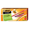 Round Stic Xtra Precision & Xtra Life Ballpoint Pen, Red Ink, 1mm, Medium, DZ