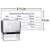 "Self-Inking Custom Stamp, 2 15/16"" x 1 7/16"""