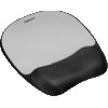 Memory Foam Mouse Pad Wrist Rest, 7 15/16 x 9 1/4, Black/Silver